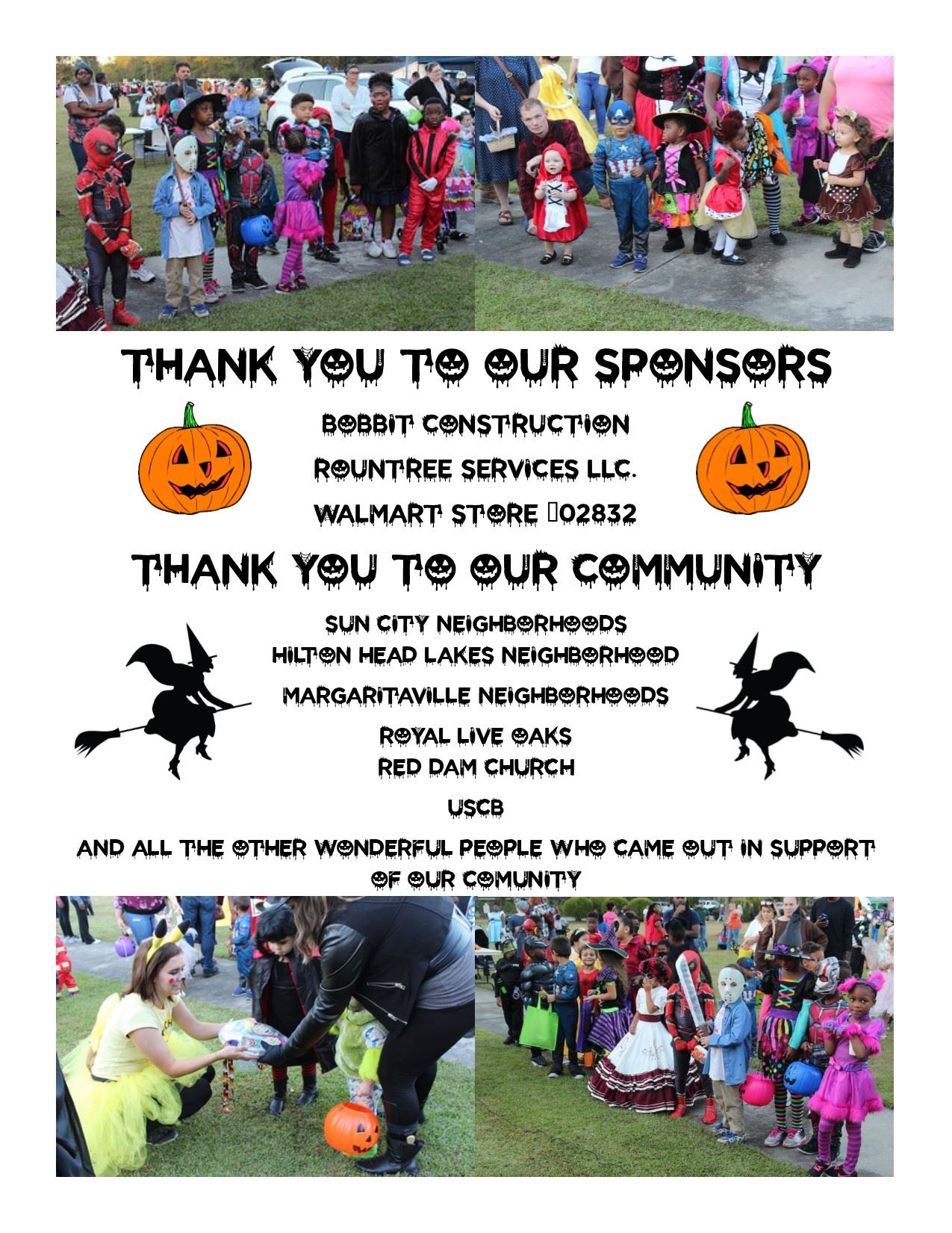 Thank you to our Halloween Sponsors