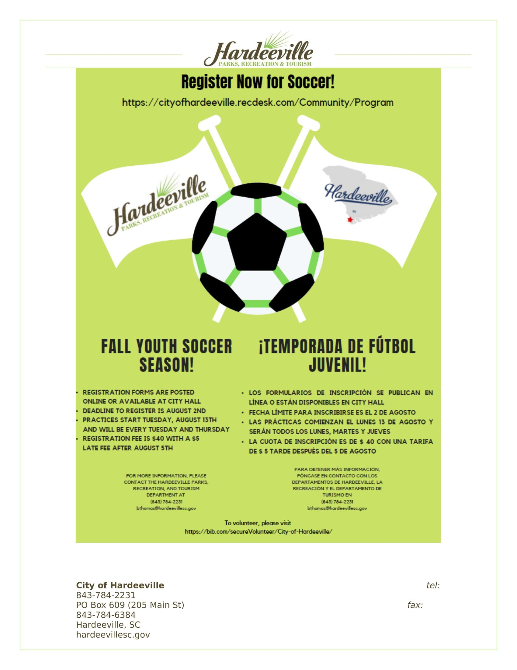 PSA Fall Youth Soccer