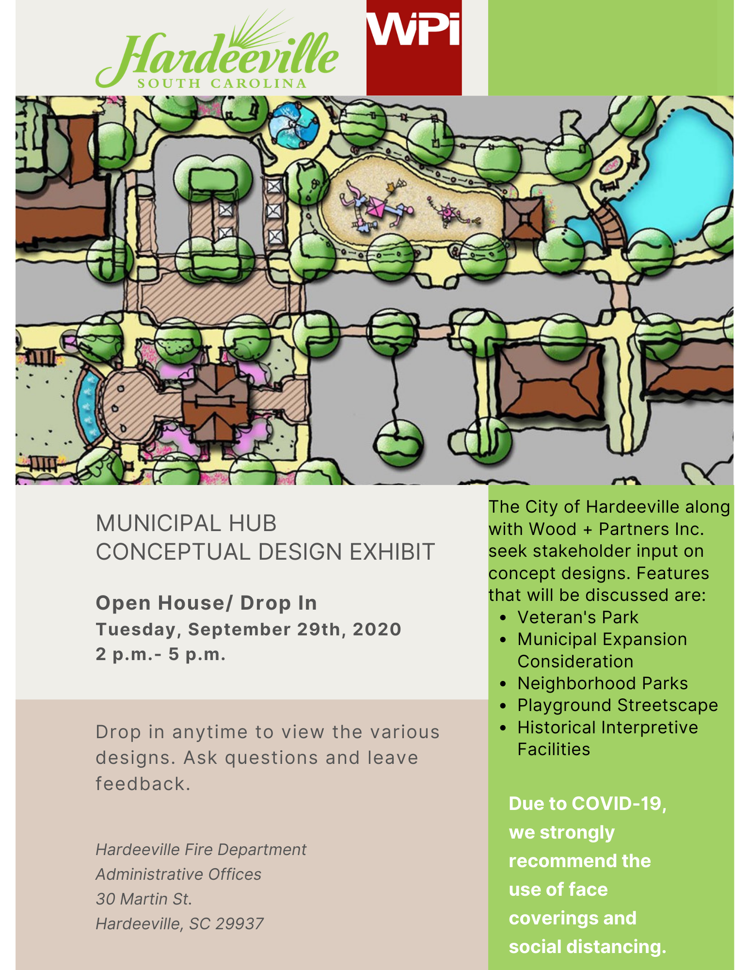 Municipal Hub Conceptual Design Exhibit Flyer. Open House/ Drop in. Tuesday, September 25.