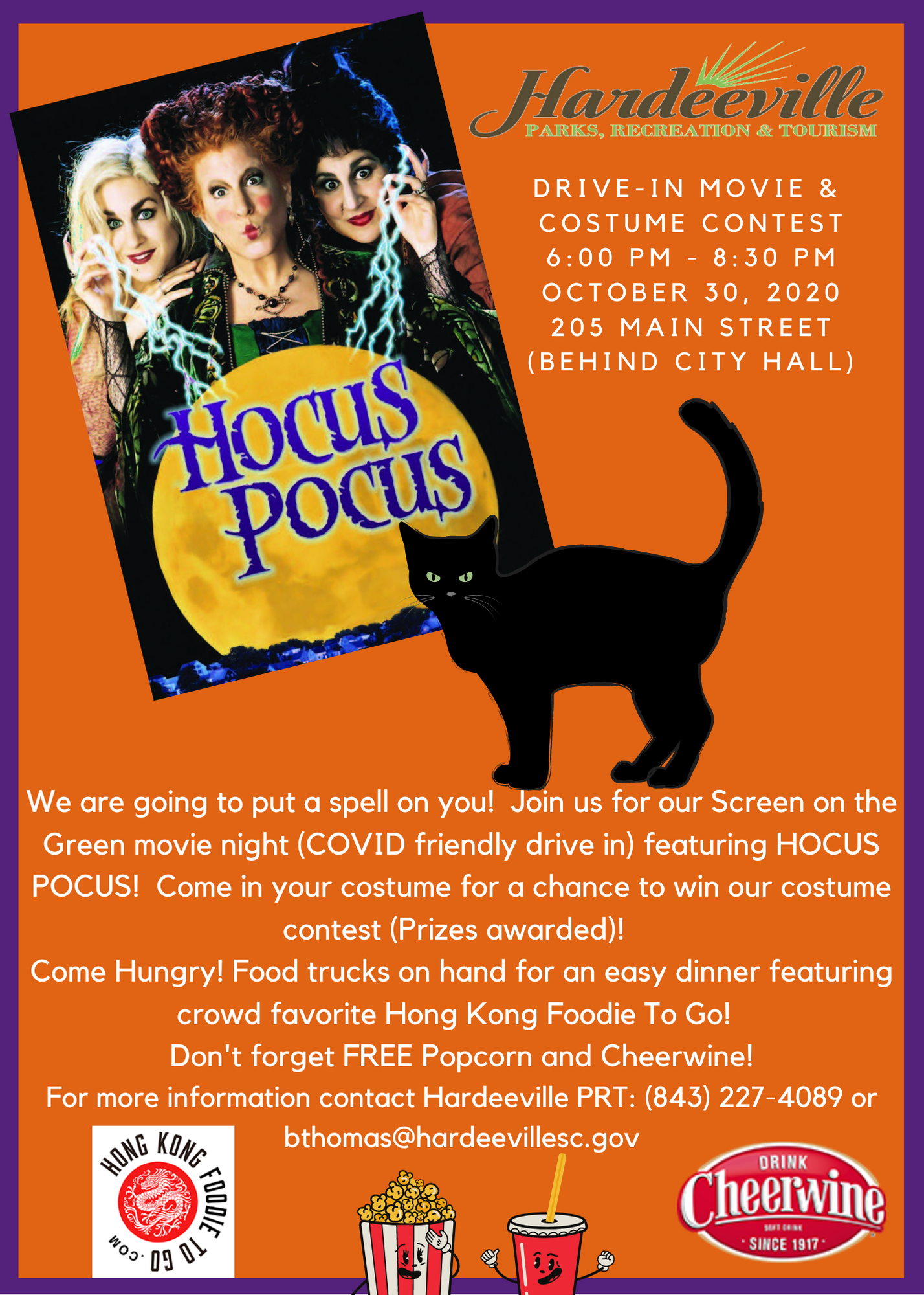 Watch Hocus Pocus with us on Friday, October 30th at 6 PM and participate in a costume contest.